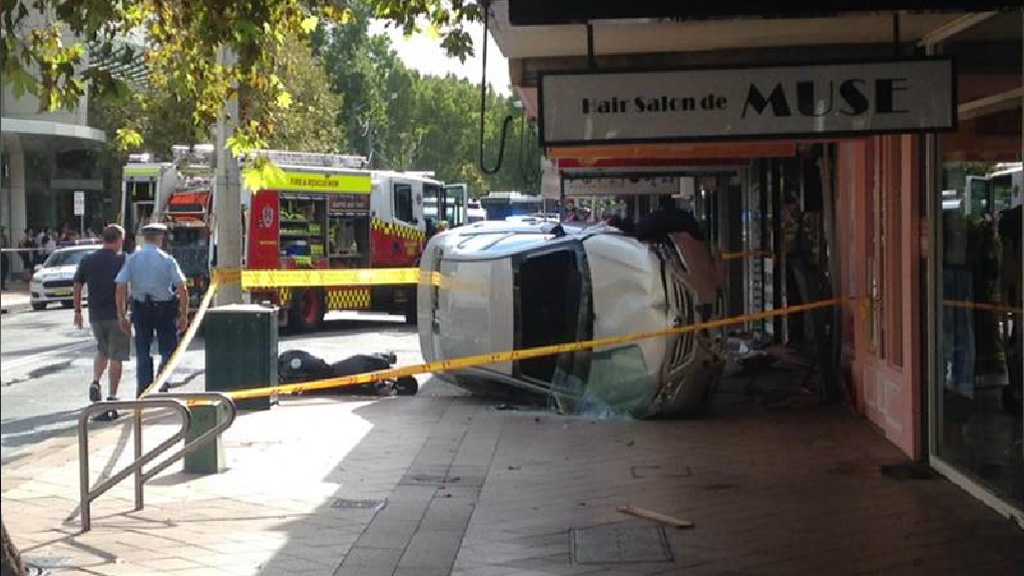 Police believe a driver may have suffered a medical episode. (Supplied)
