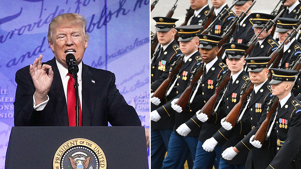 'Peace through strength': Trump promises massive build-up of entire US military