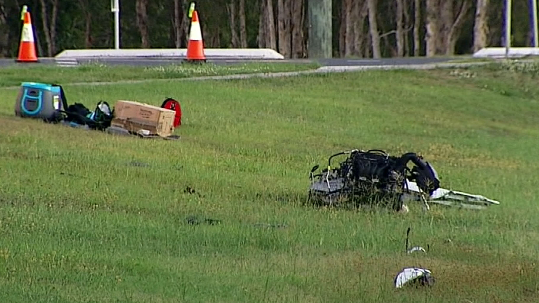 The car's engine was found metres from the wreckage. (9NEWS)