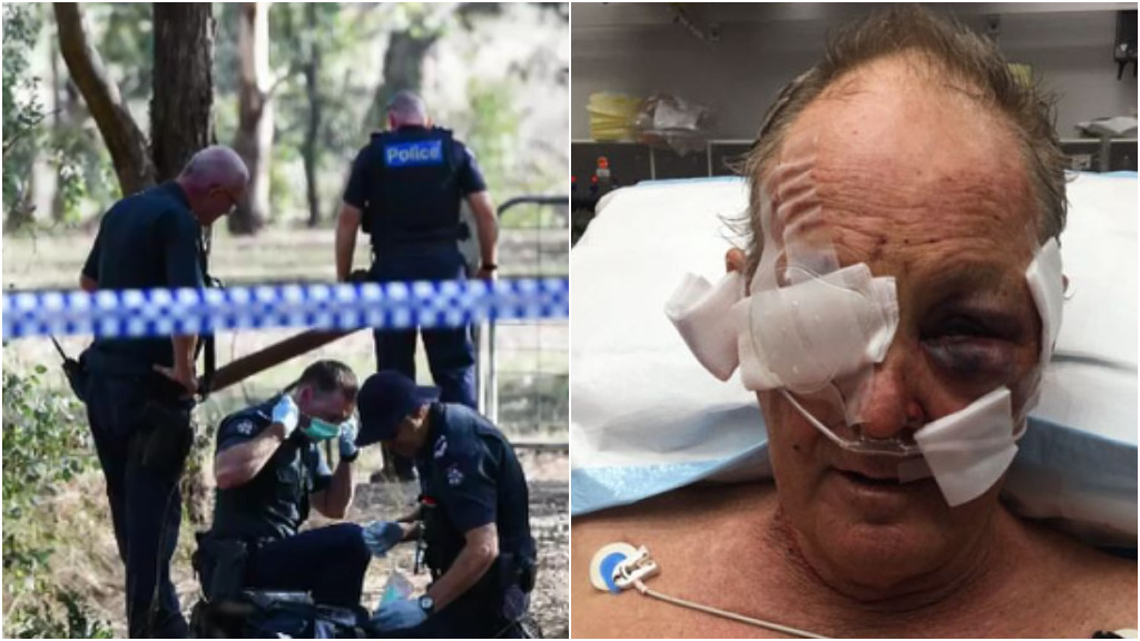 Elderly Victorian cyclist 'played dead' to escape shooter