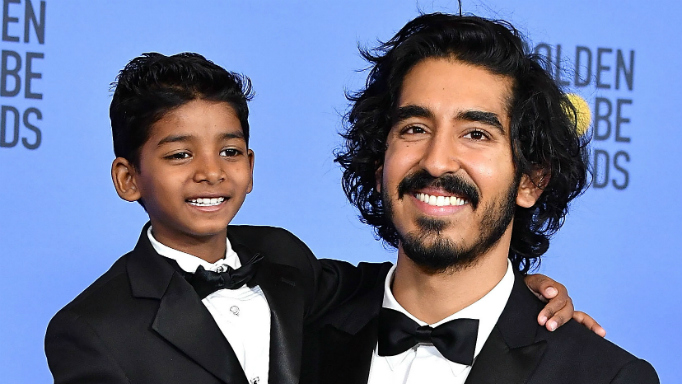 Sunny Pawar and Dev Patel Golden Globe Awards 2017.
