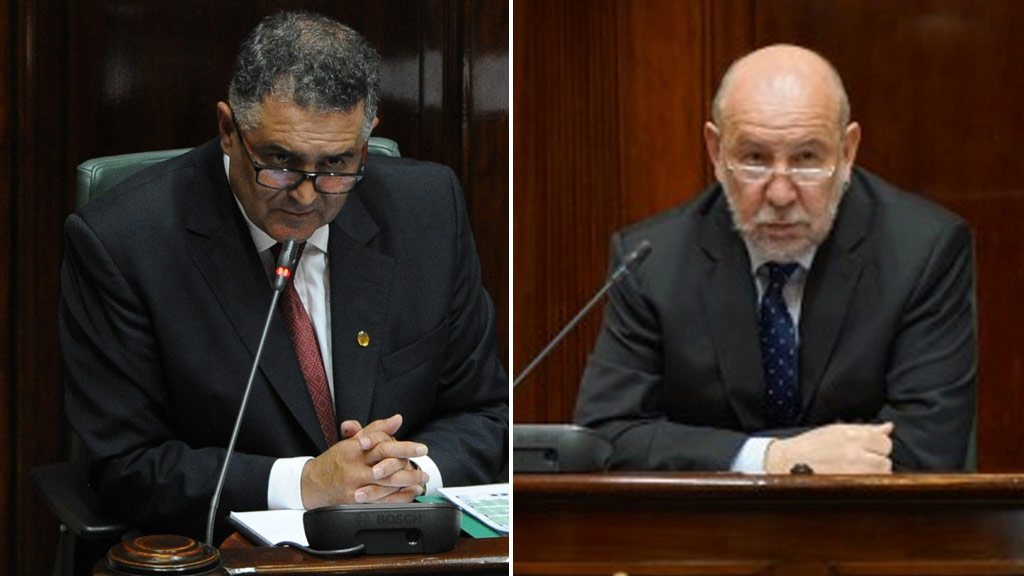 Telmo Languiller (left) and Don Nardella have resigned from the positions of Speaker and Deputy Speaker, respectively.