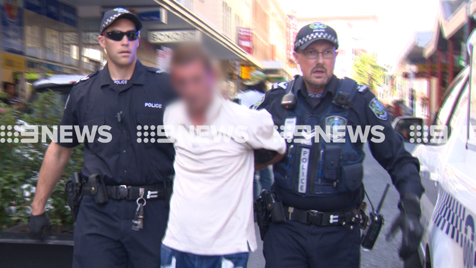 A 38-year-old man has been arrested after allegedly carrying a sword through Adelaide's CBD. (9NEWS)