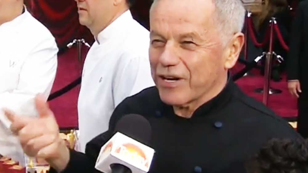 TODAY Show: Wolfgang Puck on the Red Carpet with Richard Wilkins