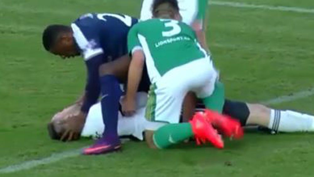 Kone saves opposing goalkeeper's life after horror clash