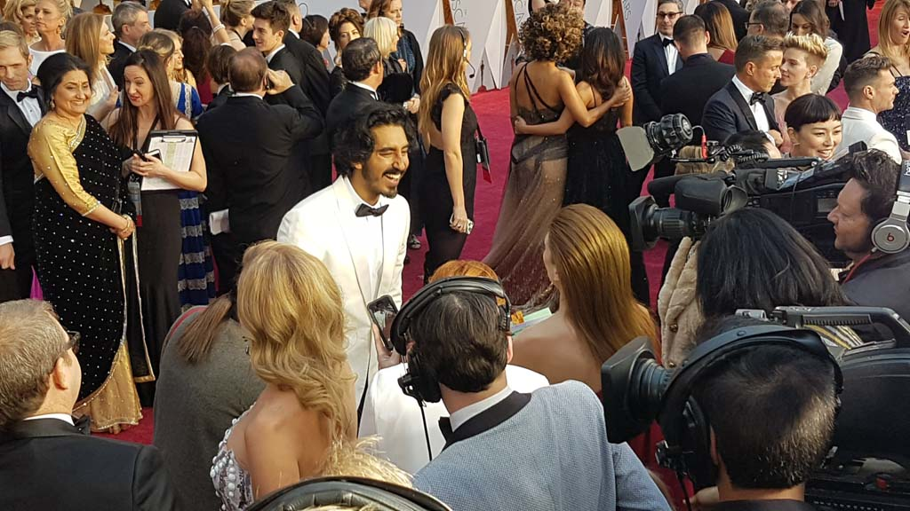 Best Supporting Actor nominee and Lion actor Dev Patel. (9NEWS/Ehsan Knopf)