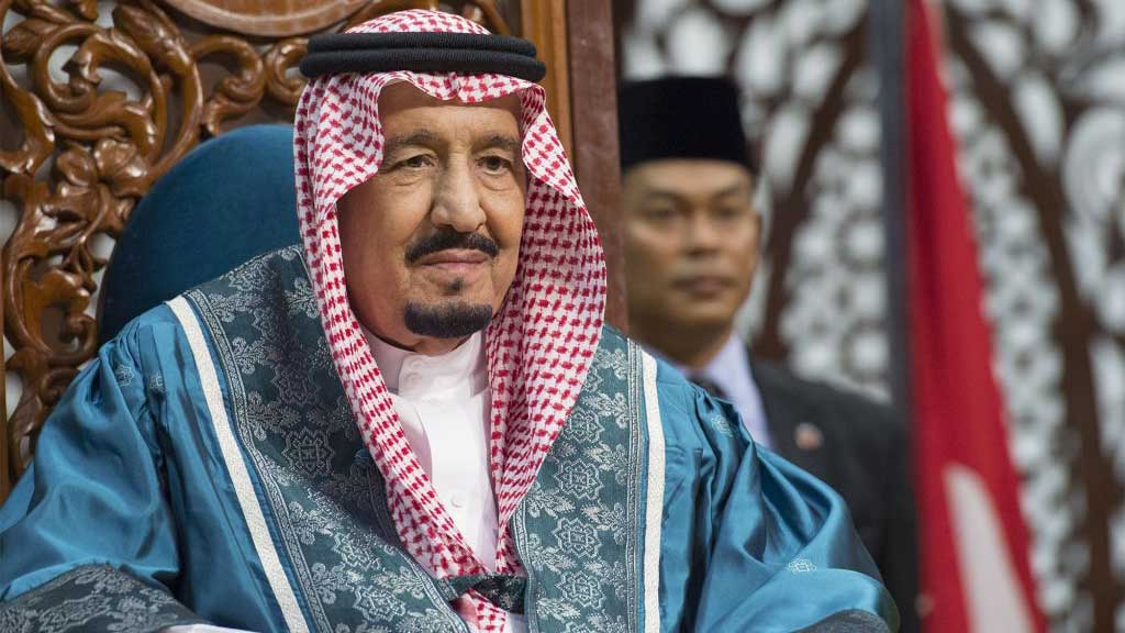 The Saudi king just arrived in Indonesia on a golden escalator