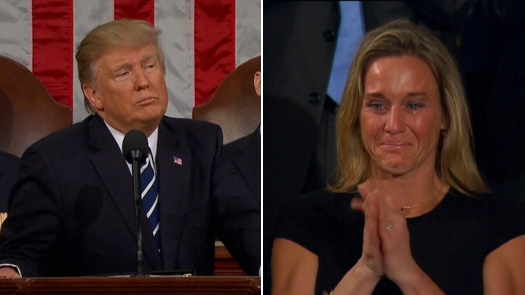 Trump pays tribute to US Navy SEAL killed in Yemen raid in first speech to Congress