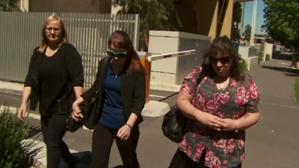 Ms Yean's family outside the Victorian Coroner's Court today. (9NEWS)