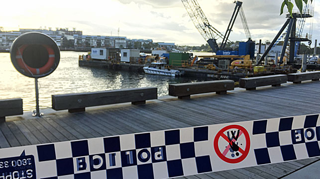 Work halted at Barangaroo site after worker's death