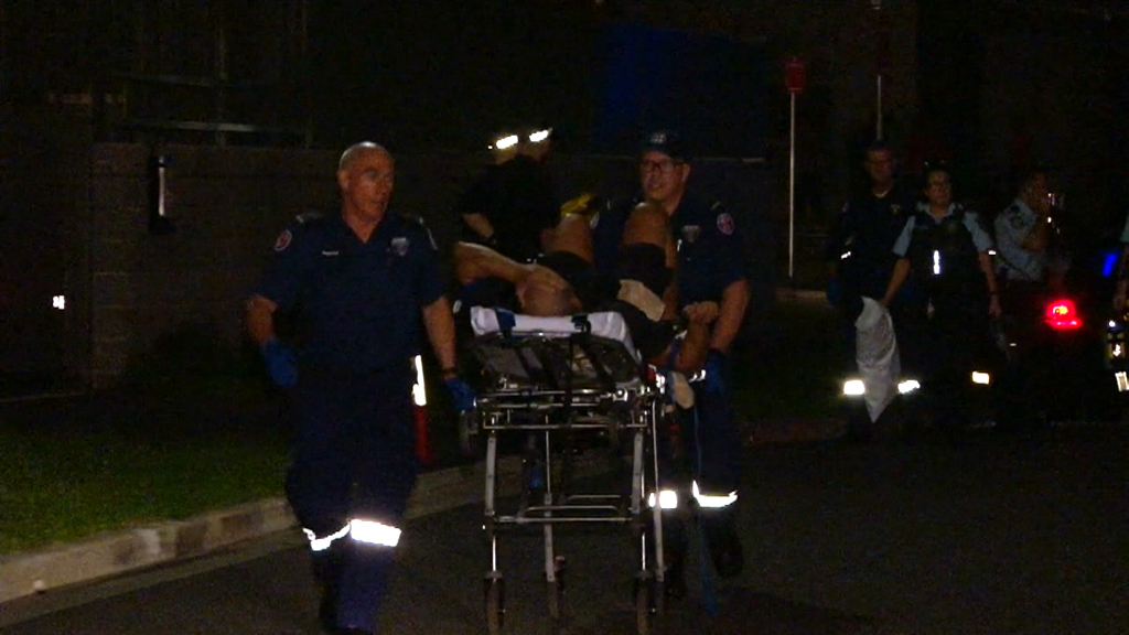 The man was taken to hospital in a stable condition. (9NEWS)