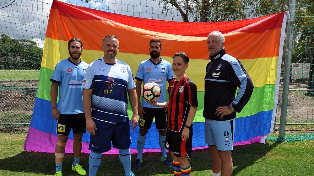 Sydney FC and a rainbow flag