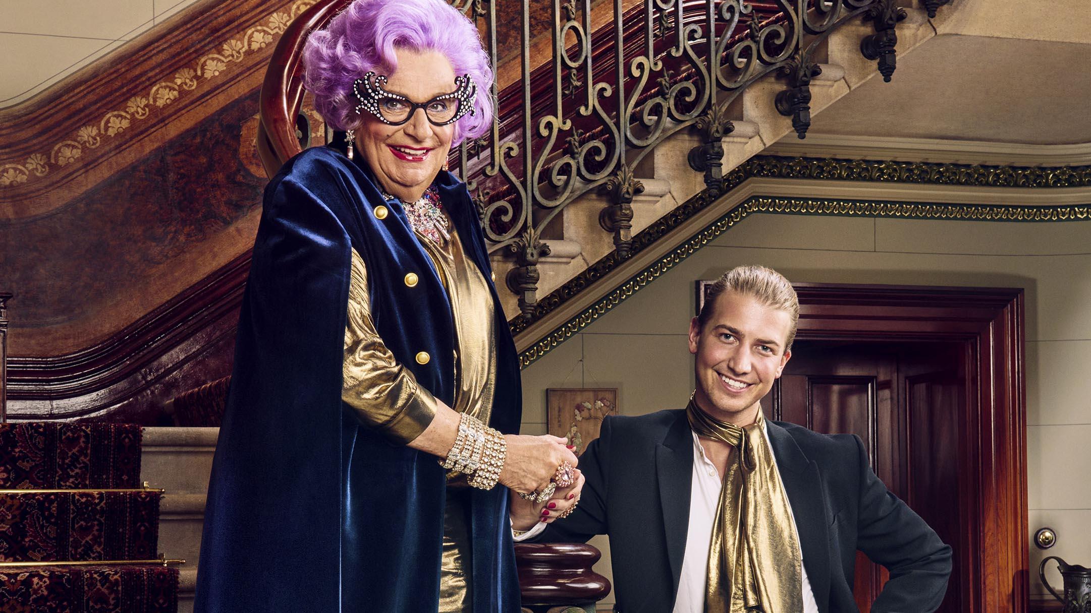 Dame Edna meets Prince Christian Wilkins