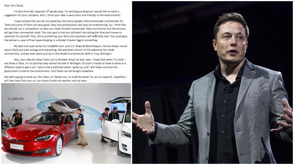 Tesla takes on board ten-year-old Michigan girl's marketing pitch