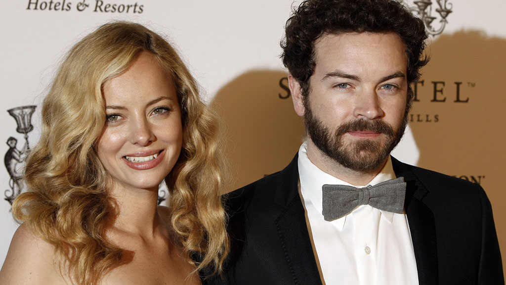 Masterson and his wife, model and actress Bijou Phillips. (AAP)