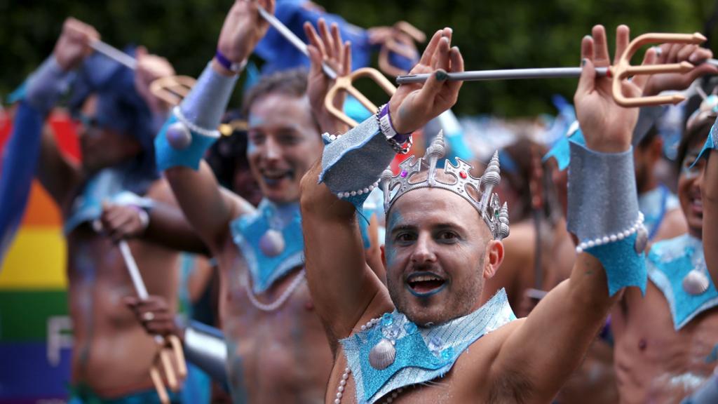 Revellers celebrated gay pride. (AAP)