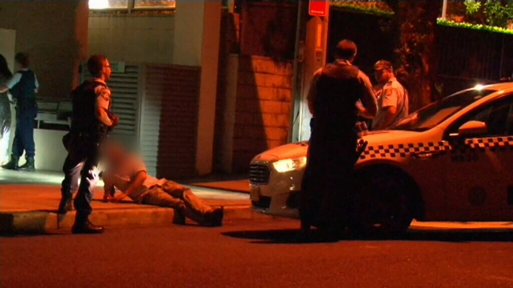 Two men were treated for facial injuries. (9NEWS)