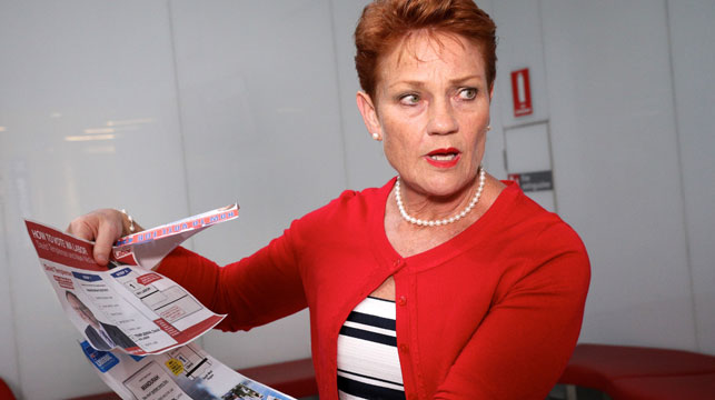 Hanson's vaccination stance her 'opinion'