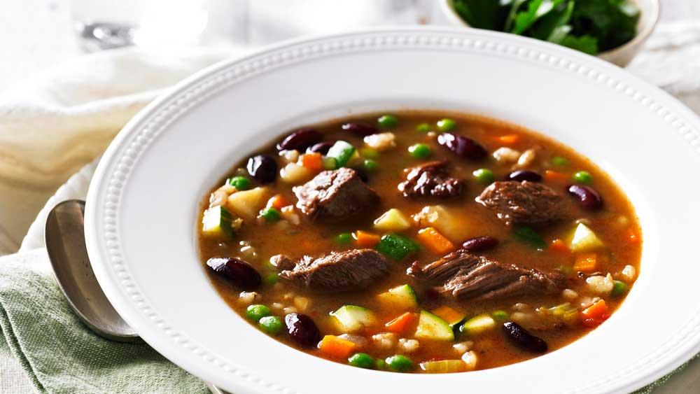 Beef, barley and vegetable soup by BeefandLamb.com.au MLA