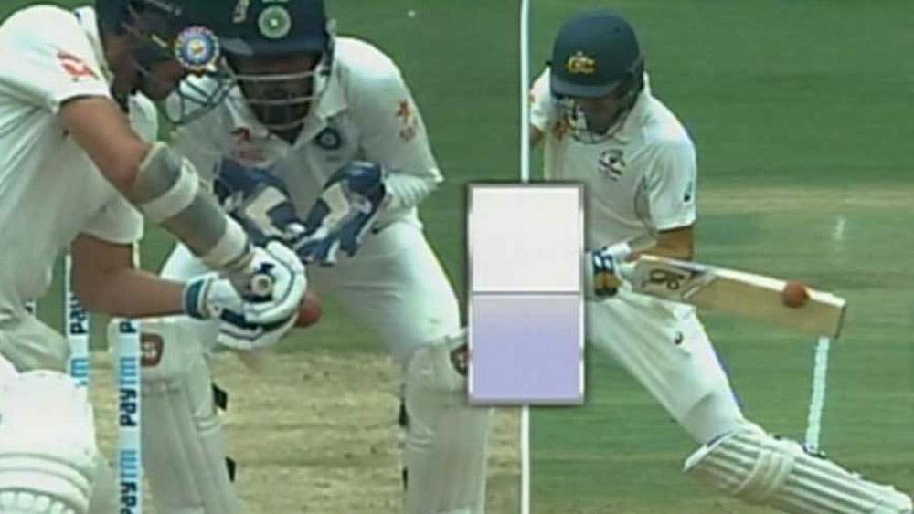 Australia's Mitchell Starc has luck and then loses it in one over against India