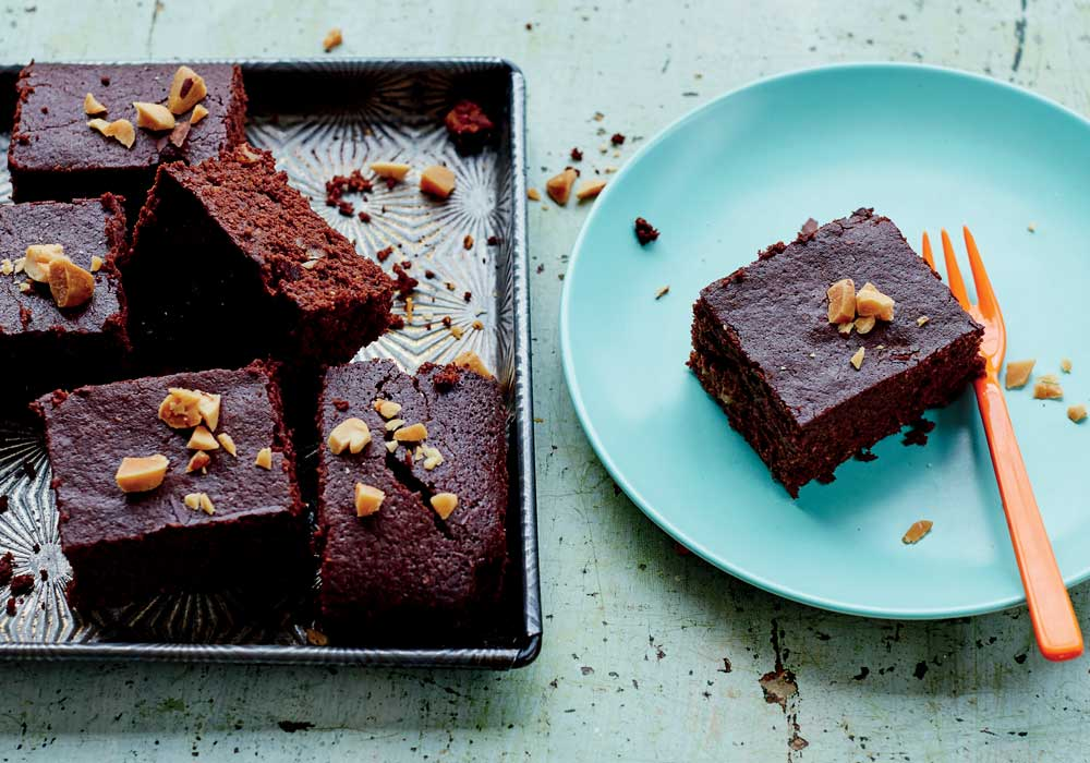 Comforting dark chocolate Brazel nut brownies by Rachel Kelly