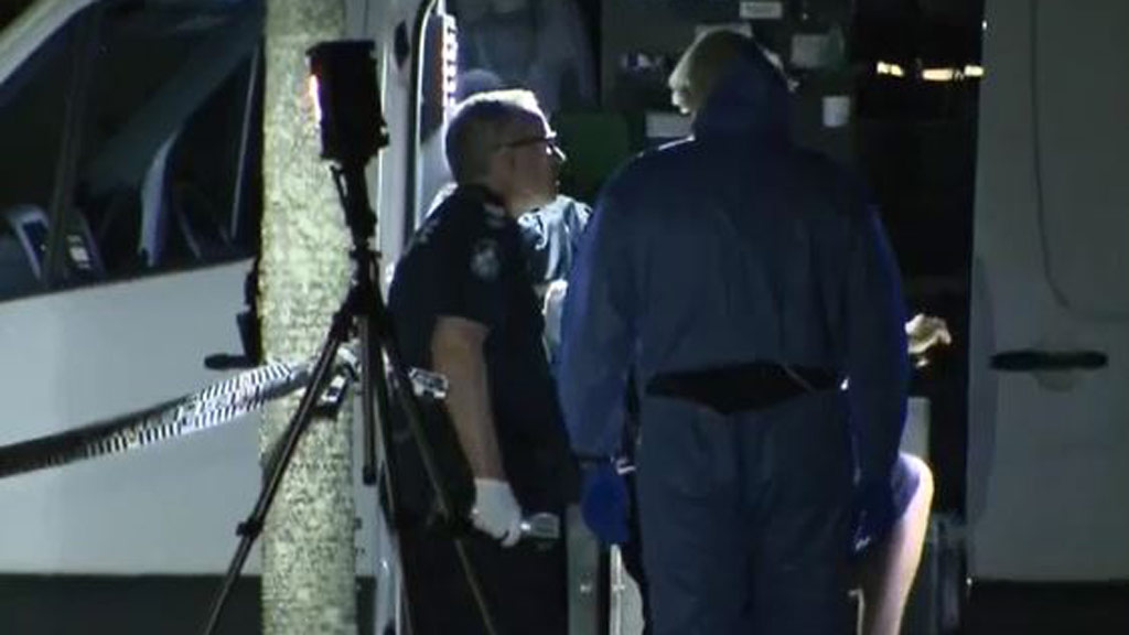 Police spent the night combing for evidence at the property. (9NEWS)