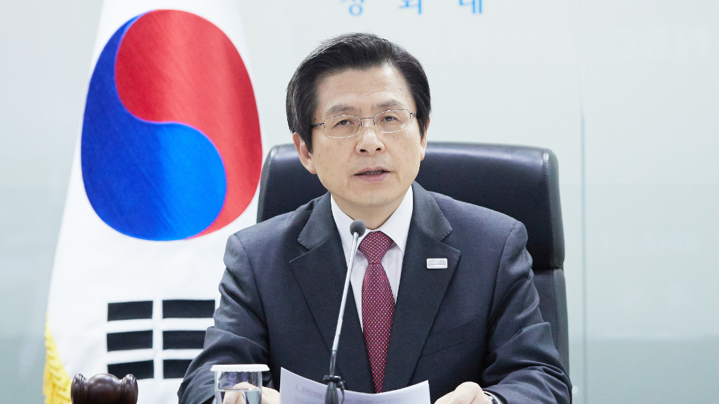 South Korea's acting president Hwang Kyo-ahn attended an emergency National Security Council meeting after North Korea fired four ballistic missiles east of the peninsula, three of which Japan said landed in its waters. (AFP)