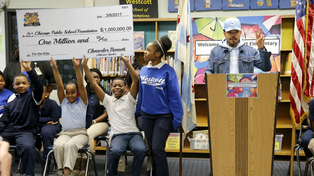 Chance the Rapper pledges $1 million to support arts programs in Chicago schools
