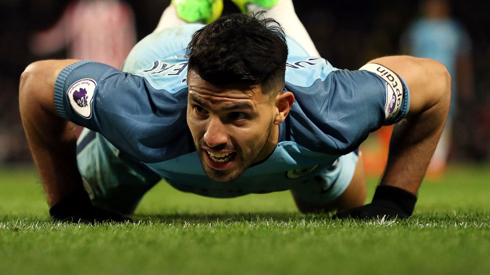 Sergio Aguero and Manchester City had a day to forget. (AAP)