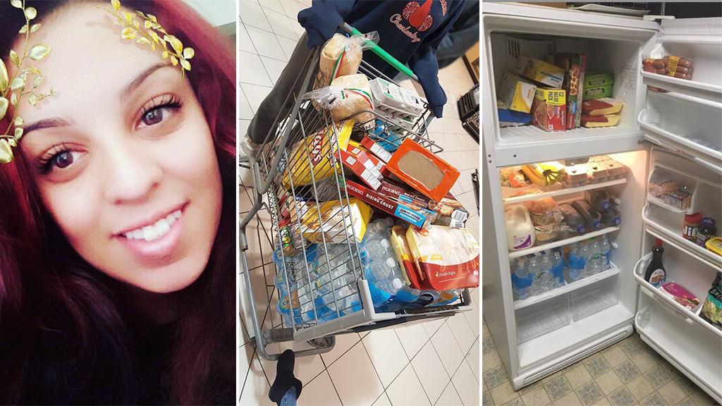 Home nurse spends her tax return to stock fridge of struggling