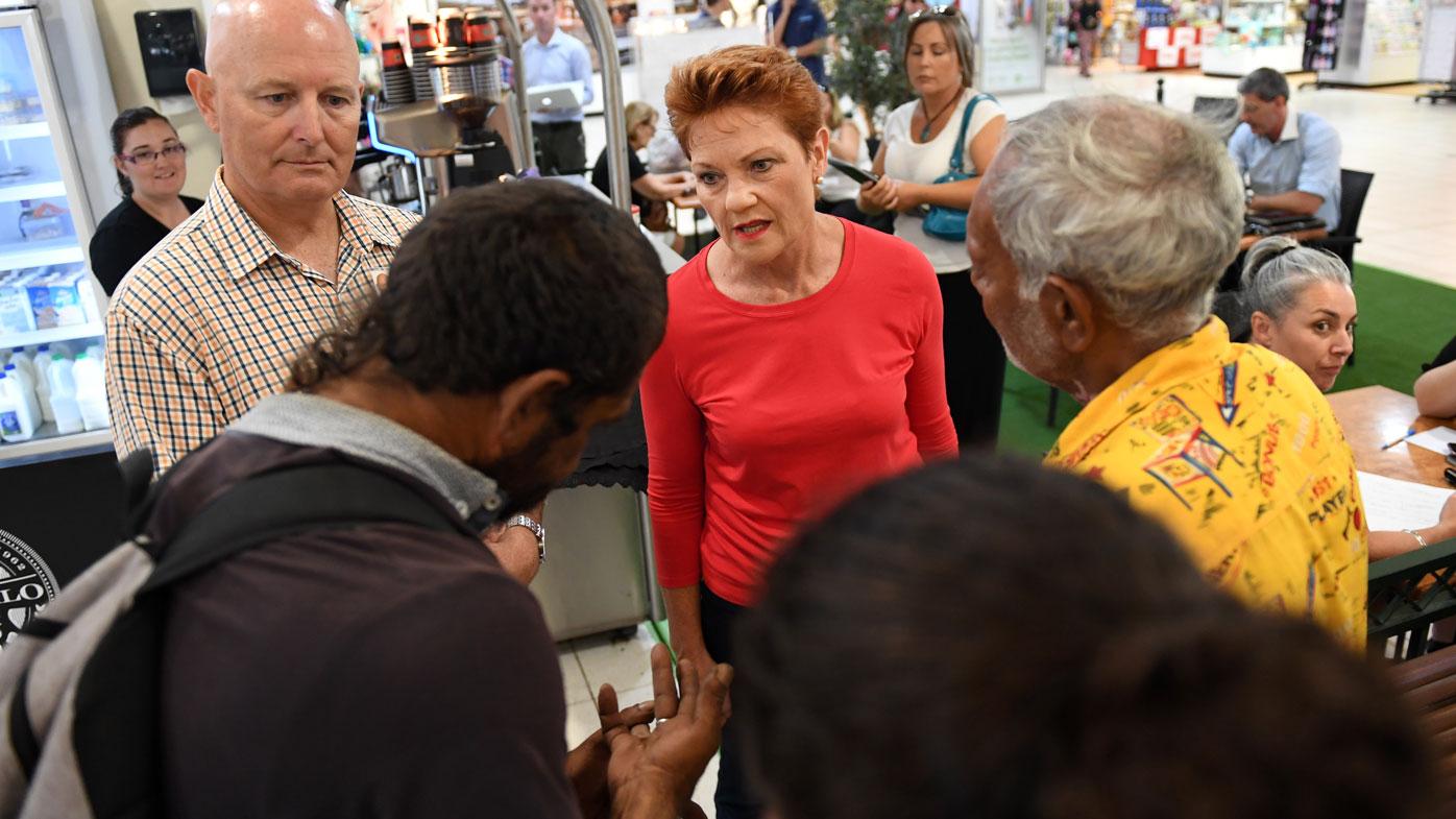 Aboriginals confront Hanson in Geraldton