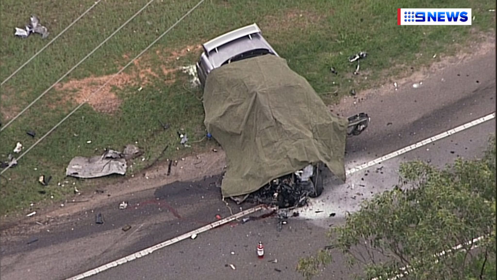 The driver of the car died in the crash. (9NEWS)