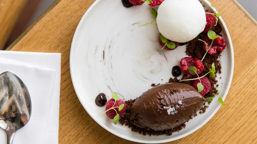 The Tilbury Hotel's baked chocolate mousse