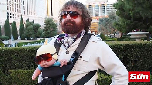 A screenshot of Thaddeus Kalinoski as The Hangover's Alan Garner. (The Sun)