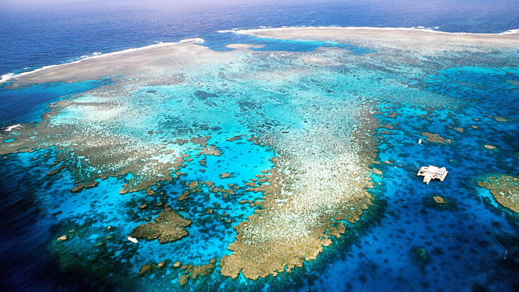 The Great Barrier Reef in 2014. (Getty Images)