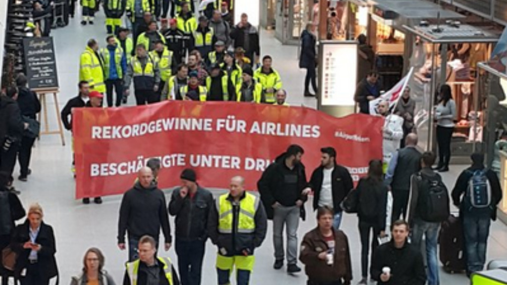 Hundreds of flights grounded at Berlin airports as ground crews strike