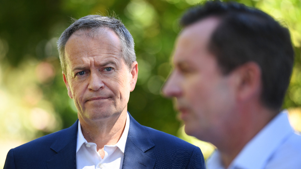 Shorten accuses Liberal party of text scare campaign on WA election day