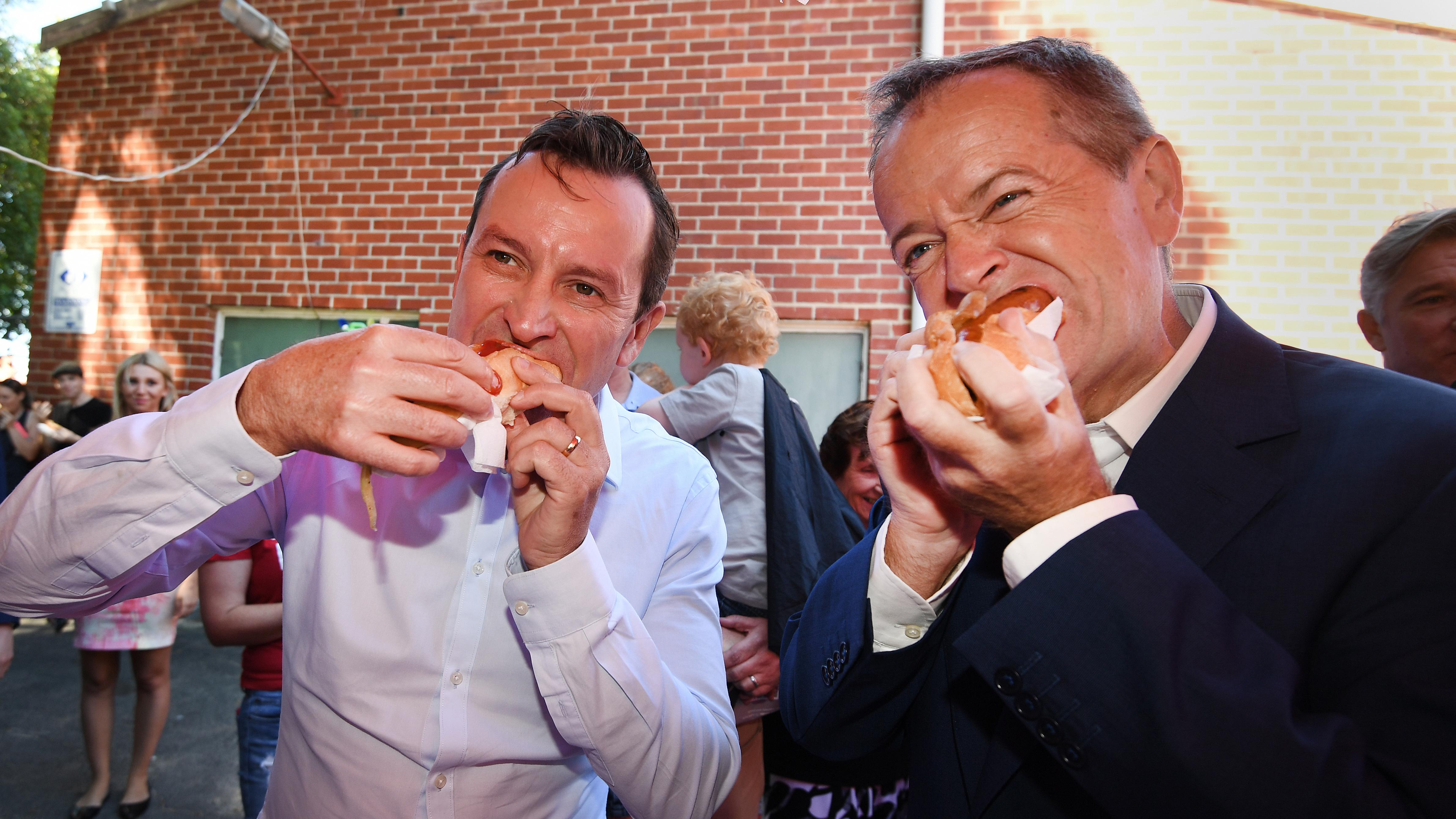 Shorten shows marked improvement in democracy sausage technique