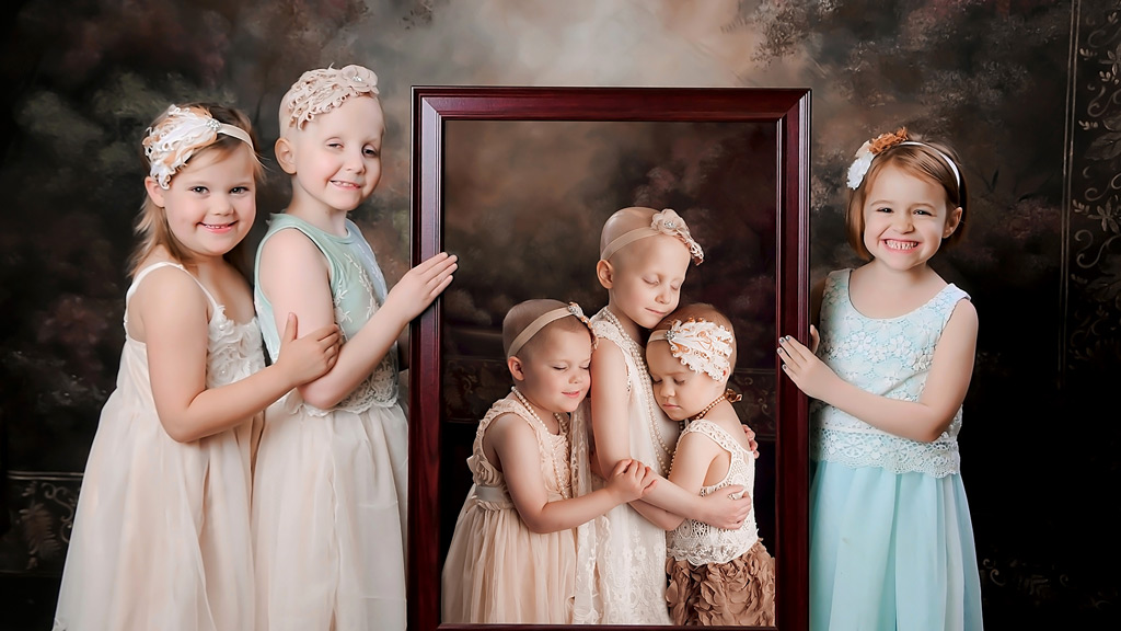 Girls who trumped cancer reunite three years after viral photoshoot