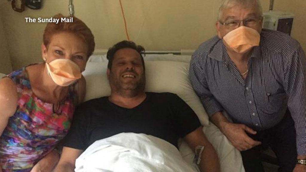 Pauline Hanson visits new WA Senator with measles