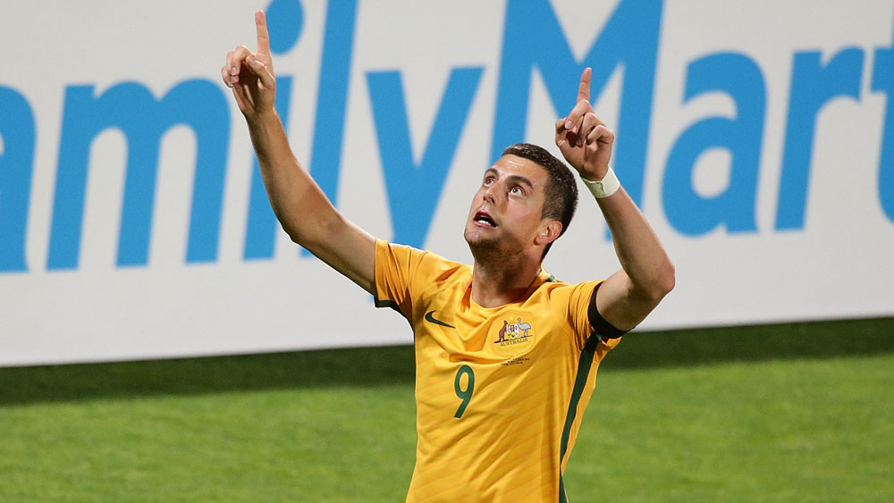 Socceroos striker Tomi Juric is pushing for higher honours. (Getty Images)