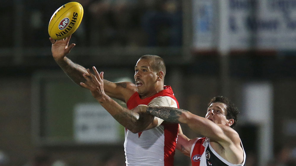 AFL's Sydney Swans forward Lance Franklin.