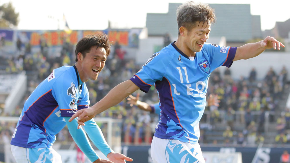 Japanese striker Kazuyoshi Miura breaks 52-year-old record for oldest goalscorer