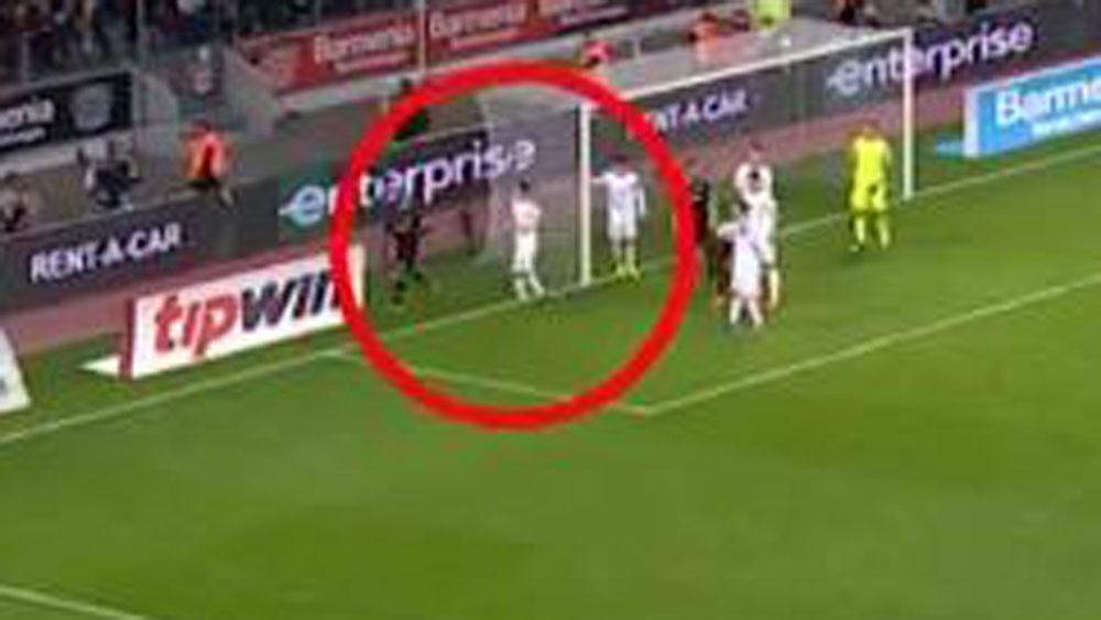 Footballer takes man-marking job way too far