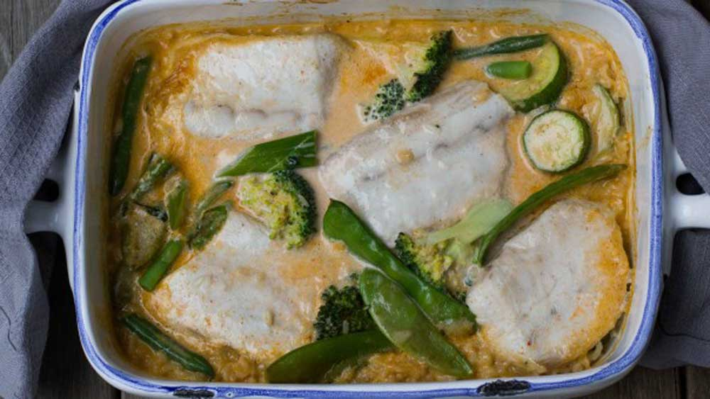 I Quit Sugar's baked one pot coconut fish curry
