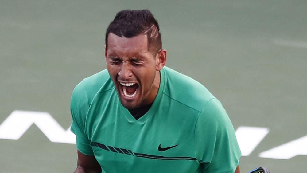 Australia's Nick Kyrgios beats Novak Djokovic