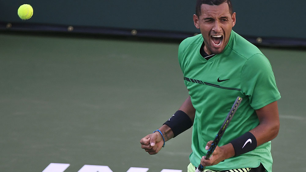 The mark Nick Kyrgios boasts that Federer, Nadal and Murray do not