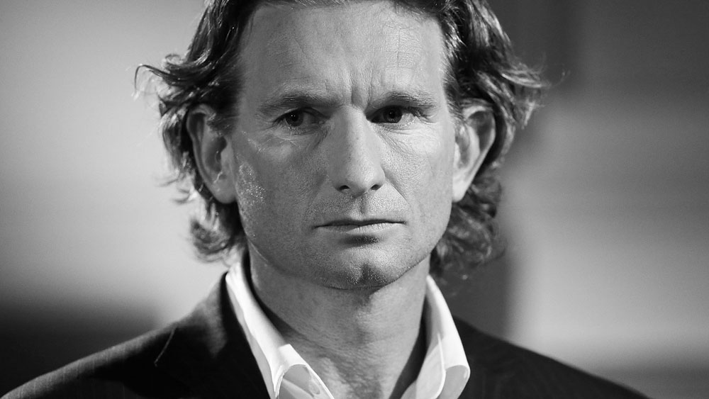 James Hird has spoken about his darkest days. (Getty Images)