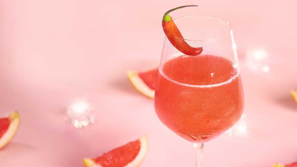 The Spark by Fernando Alonso (sparkling grapefruit cocktail)