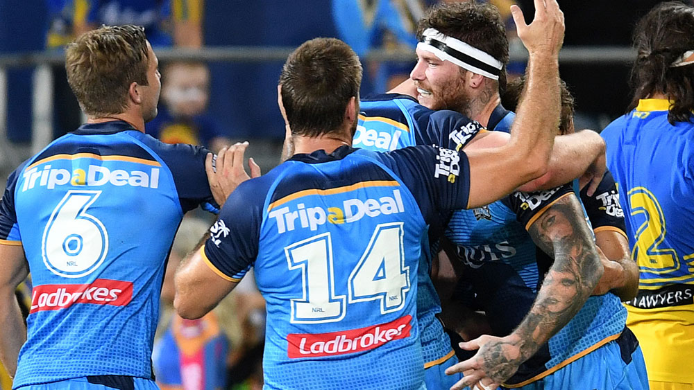 Injury-hit Gold Coast Titans score gutsy win over high-flying Eels
